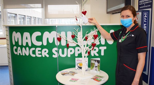 Katy Low - Macmillan lead cancer nurse and head of nursing for cancer, with the message tree.